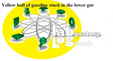 The yellow gasoline ball the size of your fist in thru your gut. Salt and pepper deficiency allowing yellow gasoline ball the size