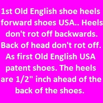 1st Old English USA Heels Forward Shoes.